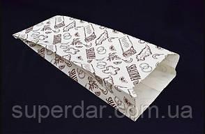 Пакет для шаурми, крафт білий, 40 г/м2, 270х100х40 друк 1+0 (1ящ. = 1000 шт)