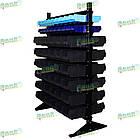 Стеллаж двусторонний Н1500 мм, 108 ящиков, стеллаж для контейнеров складских В/С, фото 4