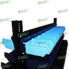 Стеллаж двусторонний Н1500 мм, 108 ящиков, стеллаж для контейнеров складских В/С, фото 6