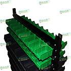 Стеллаж двусторонний Н1500 мм, 108 ящиков, стеллаж для контейнеров складских В/С, фото 7