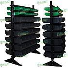 Стеллаж двусторонний Н1500 мм, 108 ящиков, стеллаж для контейнеров складских В/С, фото 3
