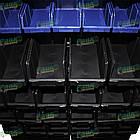 Стеллаж двусторонний Н1500 мм, 108 ящиков, стеллаж для контейнеров складских В/С, фото 10