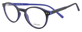 Оправа для очков круглая, подростковая, стильная, пластиковая полупрозрачная, черно-синяя, Dacchi
