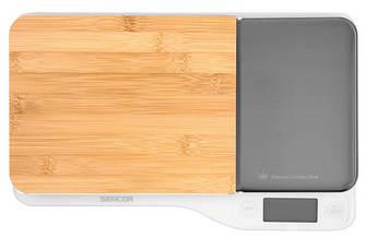 Кухонні ваги SENCOR SKS 6501WH - Модульні кухонні ваги з бамбуковою платформою, 5кг точність 1г