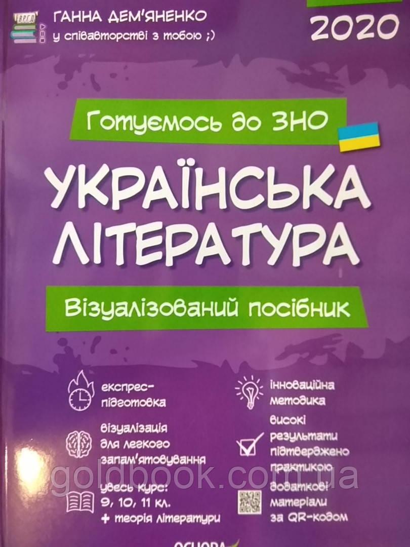 Готуємось до ЗНО Українська література візуалізований посібник