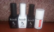 Набор матовый топ 12 мл +база 12 мл+топ 12 мл Kodi+ Праймер бескислотный Ultrabond Kodi 15 мл
