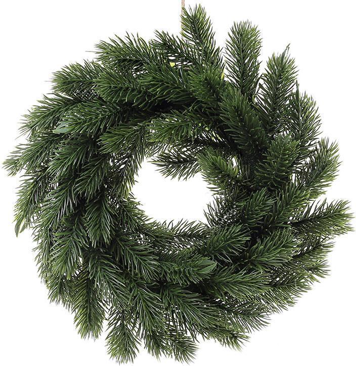 """Декоративный венок """"Вечнозеленый"""" Ø30см из искусственной хвои"""