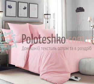 """Постельное белье евро """"Доброе утро"""" розовый бязь Gold"""