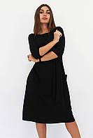 S, M, L, XL   Класичне жіноче плаття-міді Tirend, чорний