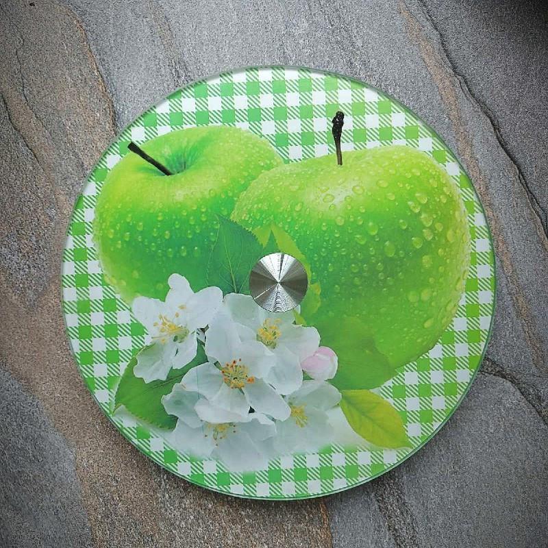 Блюдо-тортовница вращающаяся стеклянная на ножке Яблони в цвету HLS 25 см (6840//2)