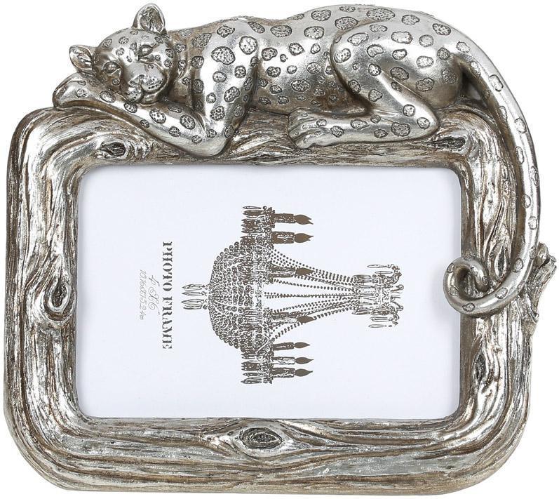 "Фоторамка ""Гепард"" для фото 10х15см, состаренное серебро"