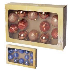 Елочные шарики 6см 12шт/наб, фото 2