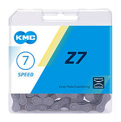 Цепь KMC Z7 для 7 скоростных трансмиссий велосипеда, без замка цепи