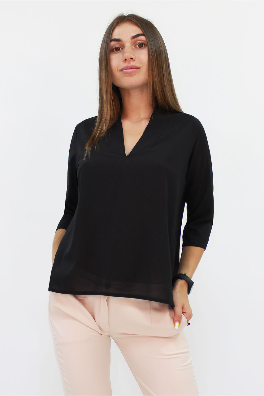 S, M, L, XL | Класична жіноча блузка Lorein, чорний