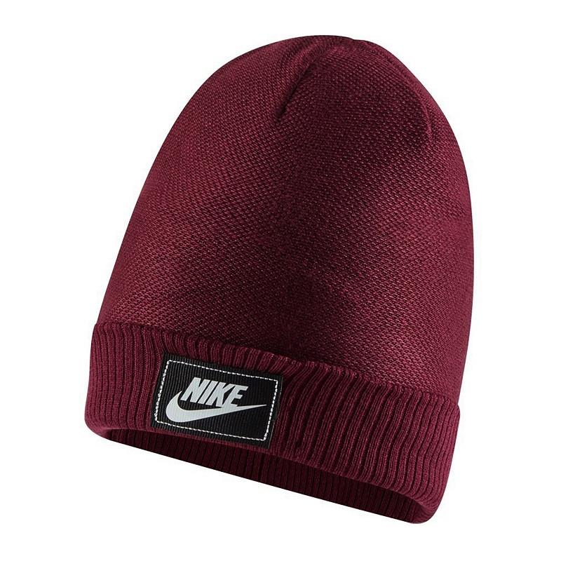 Шапка Nike NSW Cuffed Futura Beanie CW6323-638 Бордовий (0194498058121)