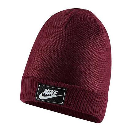 Шапка Nike NSW Cuffed Futura Beanie CW6323-638 Бордовий (0194498058121), фото 2
