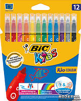 Фломастеры 12 цветов BIC Kid Coleour