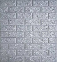 Стеновые 3D панели самоклеющиеся Sticker Wall 14 Панель 3D стеновая серый кирпич 69 см X 78 см  2000000547596