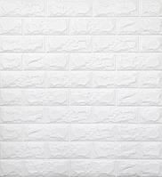 Стеновые 3D панели самоклеющиеся Sticker Wall 13 Панель 3D стеновая белый кирпич 69 см X 78 см 2000000545974