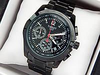 Мужские часы tissot (тисот) с кварцевым хронографом черного цвета, код 1771, фото 1