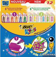 Фломастеры 12 цветов BIC Mini Colour & Create