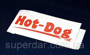 Куточок для хот-дога, крафт білий, 40 г/м2, 210х72х0 друк 1+0 (1ящ. = 3500 шт)