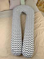 Подушка для беременных и кормления ребенка U-образная подкова Хлопок Премиум XXL150x75 350см JOYKIN