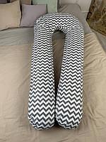 Подушка для беременных и кормления ребенка U-образная подкова Хлопок Премиум XL120x75 290см JOYKIN