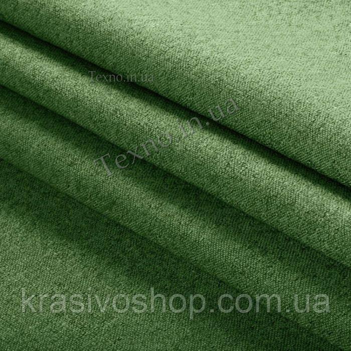 Ткань однотонный коттон букле зеленый