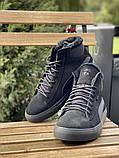 Чоловічі черевики замшеві зимові чорні, фото 6