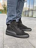 Чоловічі черевики замшеві зимові чорні, фото 7