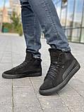 Чоловічі черевики замшеві зимові чорні, фото 9