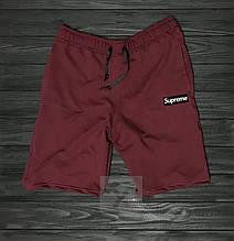 Мужские шорты Суприм, трикотажные  красные