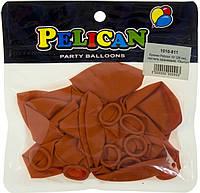 """Набір кульок повітр. 10""""/26см пастель св.-помаранчевий 10шт №1010-811/Pelican/(1)"""