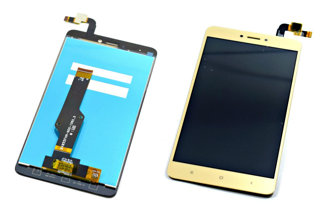 Дисплей для Xiaomi Redmi Note 4X золотистый, с тачскрином