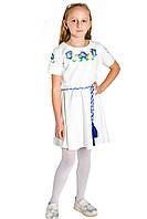 Детские вышитые платья для девочек от производителя ЕтноМодерн M-802-1