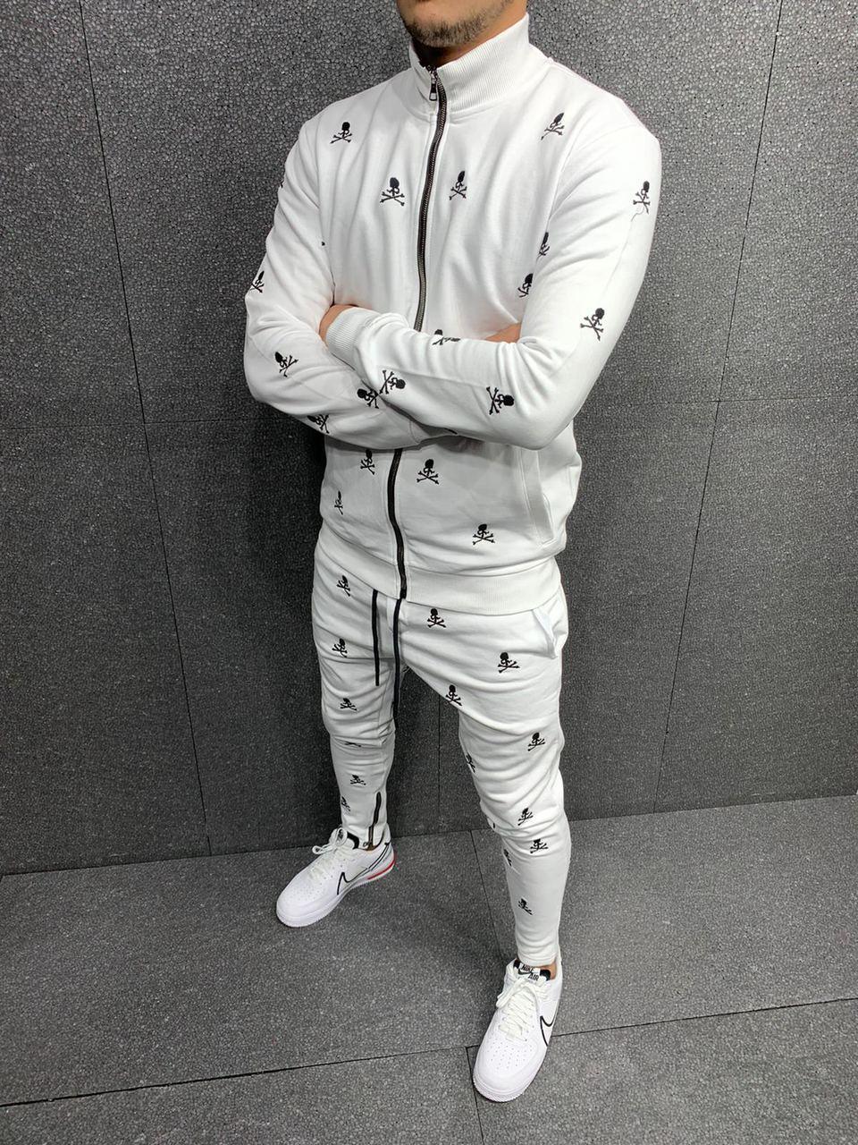 Чоловічий спортивний костюм 2Y Premium white 5226