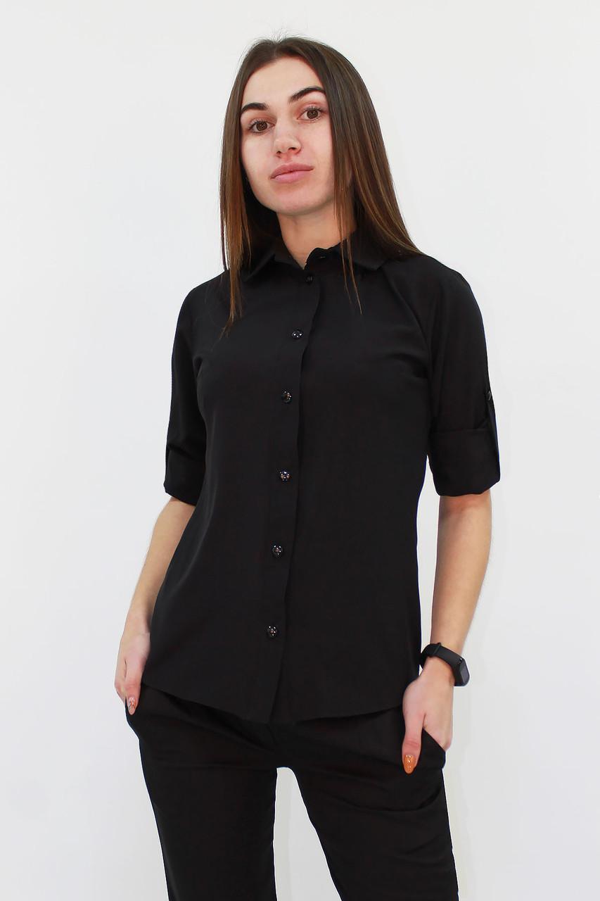 S, M, L | Класична жіноча блузка Ivory, чорний