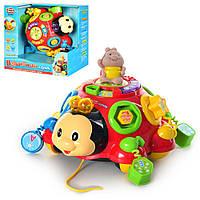 Музыкальная обучающая игрушка 957, Игра Волшебный ларец, каталка, музыка, свет, звуки