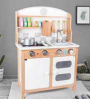 Деревянная игрушка белая детская игровая кухня