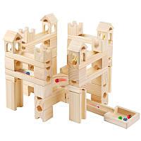 Подарок для ребенка деревянная игрушка конструктор 80 штук