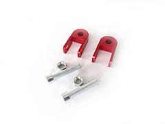 Удлинитель амортизатора (пара) 3см, Ø10мм (красный) RIDE