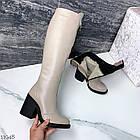 Зимние женские сапоги цвета визон, натуральная кожа, фото 10