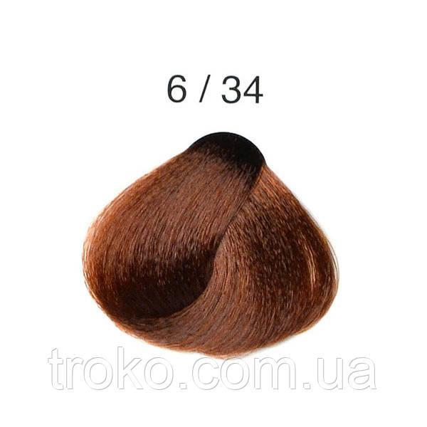 6/34 - Золотисто-медный тёмный блондин Перманентная крем-краска для волос Alter Ego Techno Fruit 100 мл