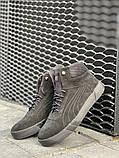 Мужские ботинки замшевые зимние черные, фото 5