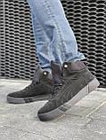 Мужские ботинки замшевые зимние черные, фото 7