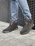 Мужские ботинки замшевые зимние черные, фото 8