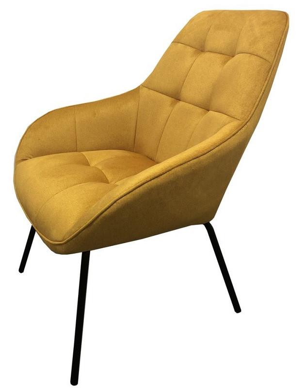 Кресло лаунж Morgan желтый карри (112928) велюр Concepto