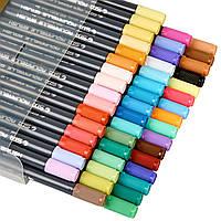 Набор двусторонних акварельных маркеров на водной основе STA 36 цветов (B141220)
