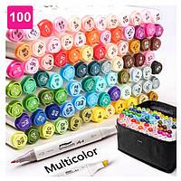 Набор двусторонних маркеров Touch для рисования и скетчинга на спиртовой основе 100 штук